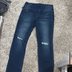 Pull on straight jeans